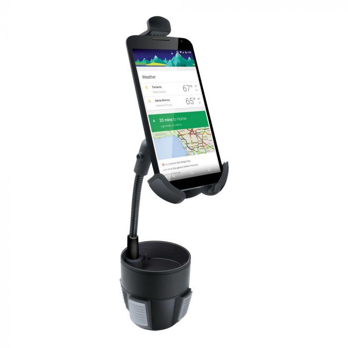 Suport iSound Auto Negru cu pahar (rotatie 360 grade, pentru smartphone pana la 6.5' ')