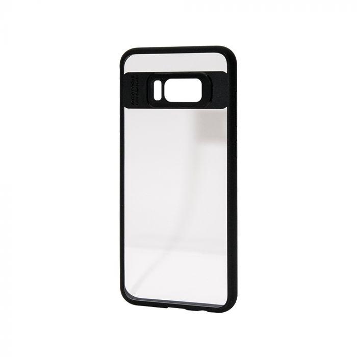 Carcasa Samsung Galaxy S8 Plus Just Must Pure III transparent cu margini cauciucate negre