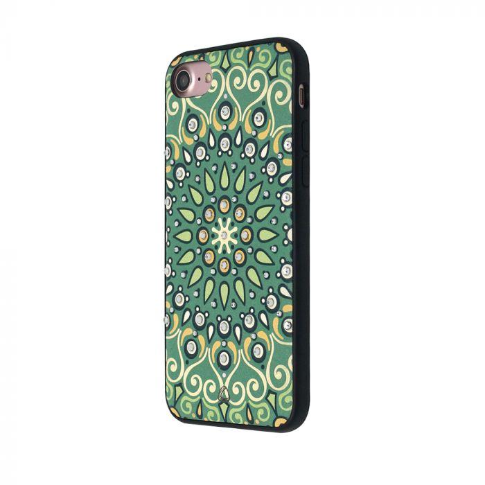 Carcasa iPhone 8 / 7 Occa Artist Indian Mandala (3D print cu cristale)