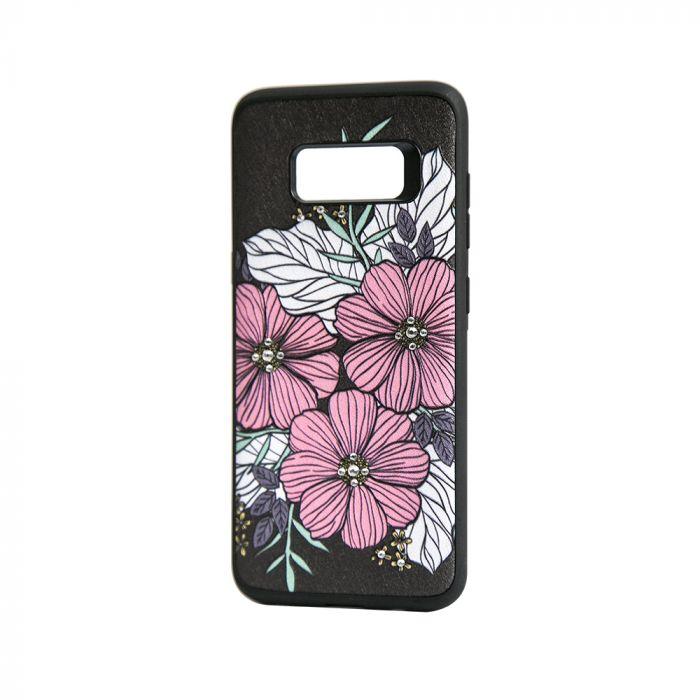 Carcasa Samsung Galaxy S8 G950 Occa Artist Flower Bloom (3D print cu cristale)