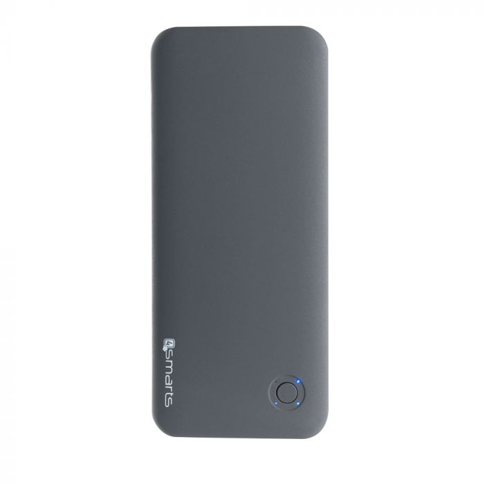 Acumulator extern 4smarts Duos Slim Evo Silver 6000 mAh (2 X USB, iesire 2.6 A total, cablu microUSB