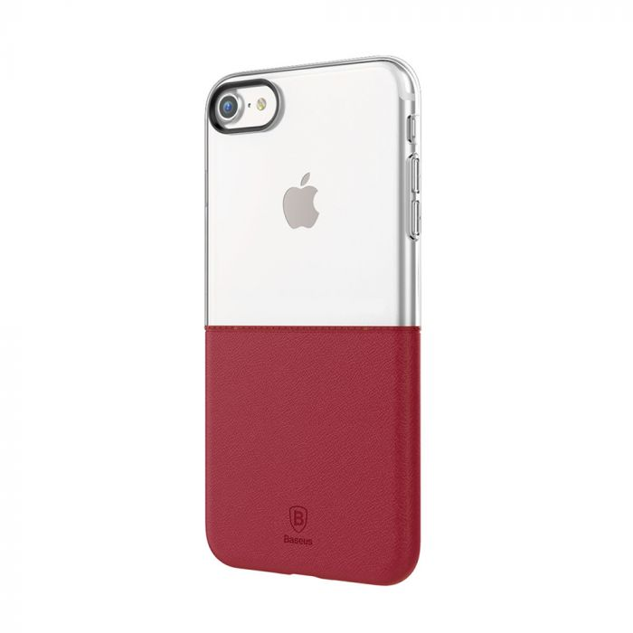 Carcasa iPhone 7 Baseus Half to Half TPU Silicon-Hard Red Wine