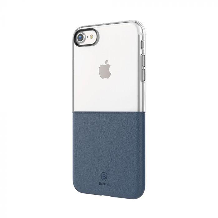 Carcasa iPhone 7 Baseus Half to Half TPU Silicon-Hard Dark Blue