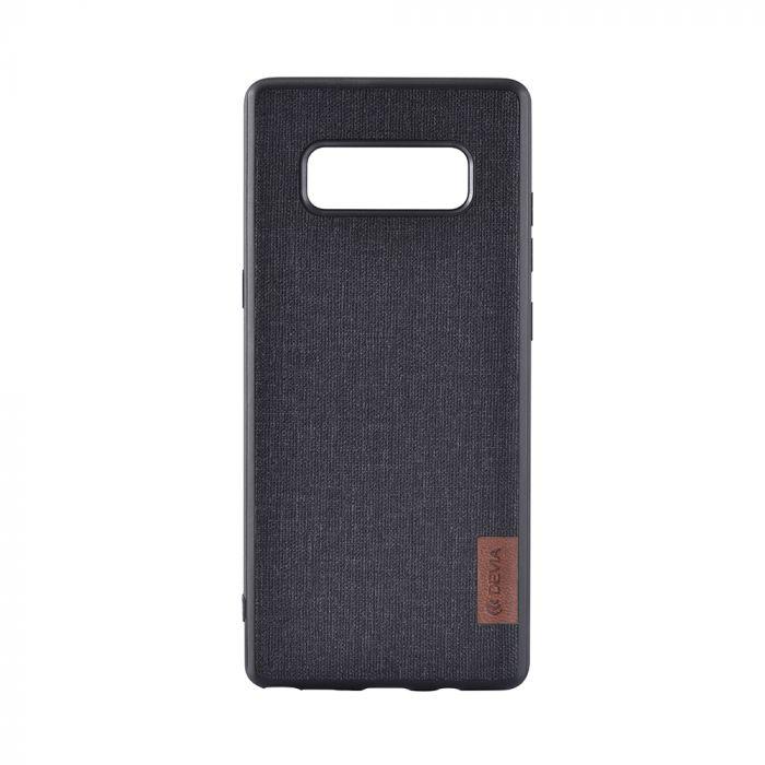 Carcasa Samsung Galaxy Note 8 Devia Flax Case Black (margini cauciucate negre)