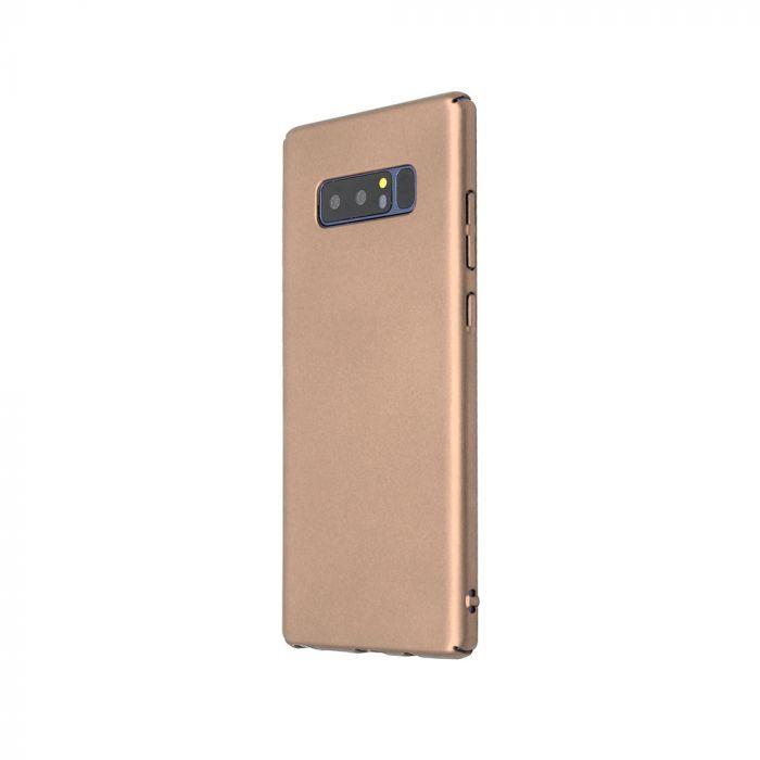 Carcasa Samsung Galaxy Note 8 Just Must Uvo Gold (material fin la atingere, slim fit)