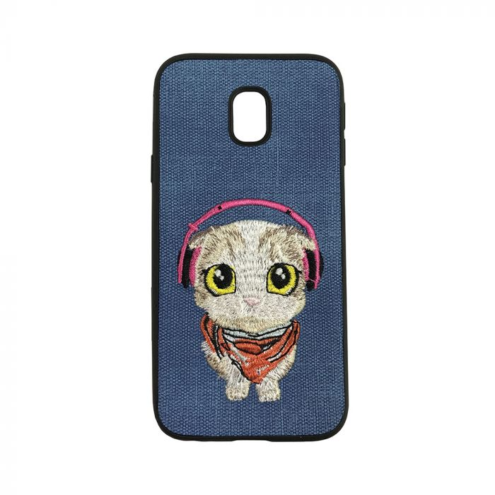 Carcasa Samsung Galaxy J3 (2017) Lemontti Embroidery Blue Puppy
