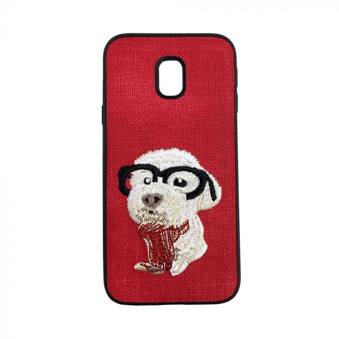 Carcasa Samsung Galaxy J5 (2017) Lemontti Embroidery Red Puppy
