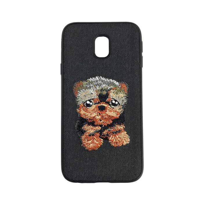 Carcasa Samsung Galaxy J5 (2017) Lemontti Embroidery Black Puppy