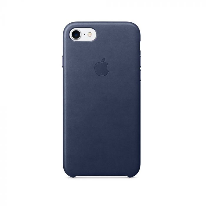Carcasa iPhone 8 / 7 Apple Leather Midnight Blue (piele naturala)