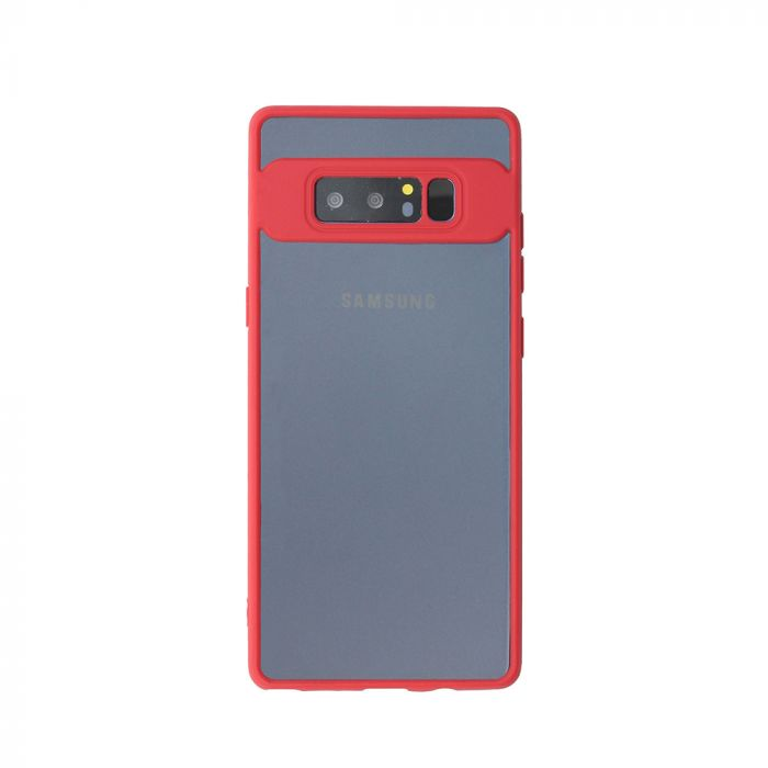 Carcasa Samsung Galaxy Note 8 Just Must Pure Light Red Frame (spate transparent de 0.38mm)