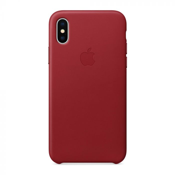 Carcasa iPhone X Apple Leather Red (piele naturala)