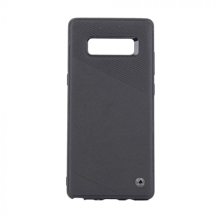 Carcasa Samsung Galaxy Note 8 Occa Exquis Car Black (margini flexibile, placuta metalica integrata)