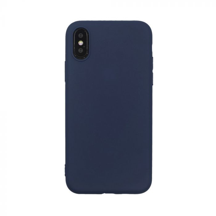 Husa iPhone X / XS Just Must Silicon Candy Navy