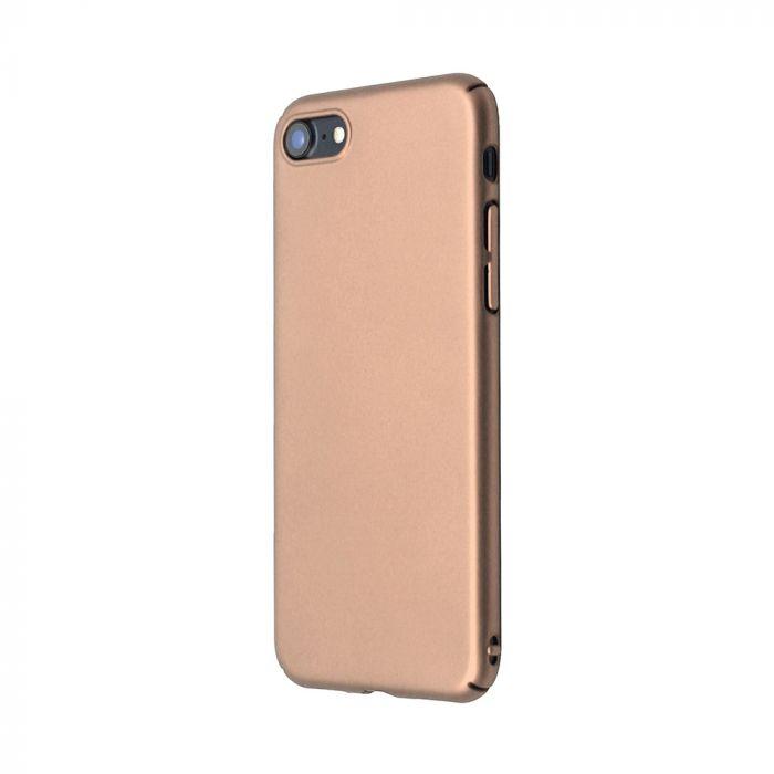 Carcasa iPhone 8 Just Must Uvo Gold (material fin la atingere, slim fit)