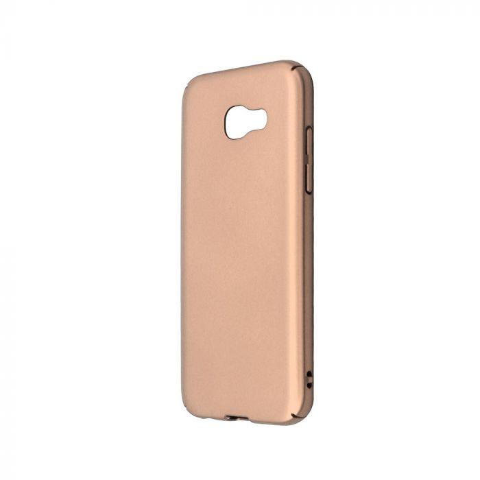 Carcasa Samsung Galaxy A5 (2017) Just Must Uvo Gold (material fin la atingere, slim fit)
