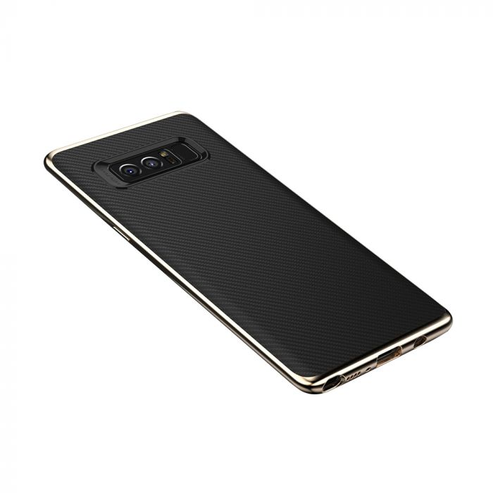 Carcasa Samsung Galaxy Note 8 Just Must Arm Duo Gold (spate textura carbon negru)