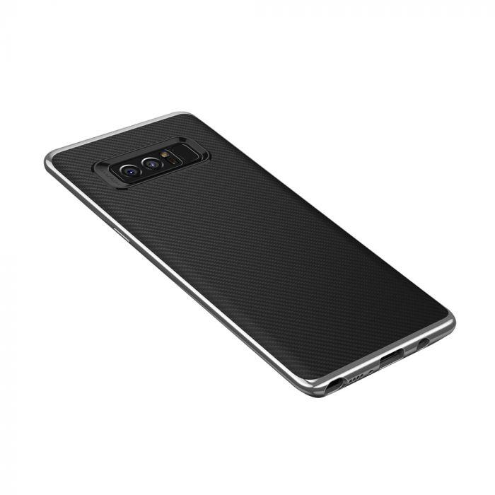 Carcasa Samsung Galaxy Note 8 Just Must Arm Duo Silver (spate textura carbon negru)