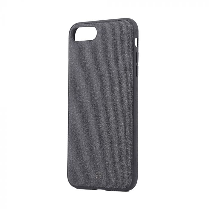 Carcasa iPhone 8 Plus / 7 Plus Just Must Pilot Black (margini flexibile, placuta metalica integrata)