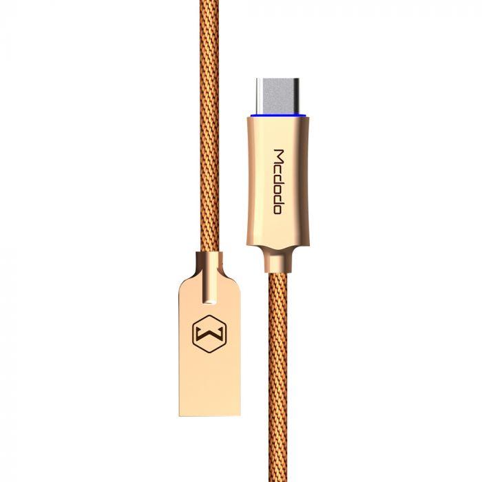 Cablu Type-C Mcdodo Auto Disconnect Gold (1m, QC3.0, led indicator)