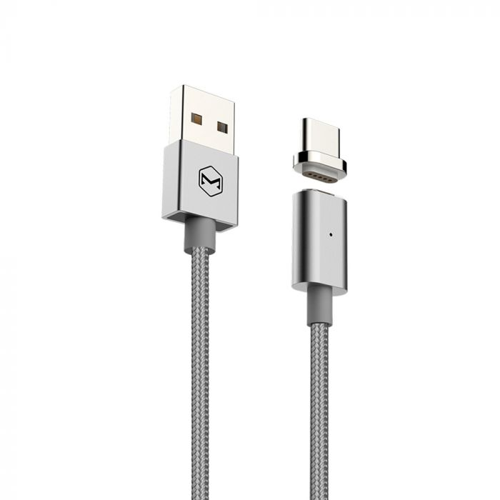 Cablu Type-C Mcdodo Magnetic Silver (1.2m, 2.4A max, led indicator)
