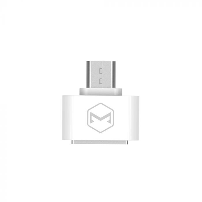 Adaptor MicroUSB la port USB 2.0 Mcdodo OTG White (conectare periferice prin USB)