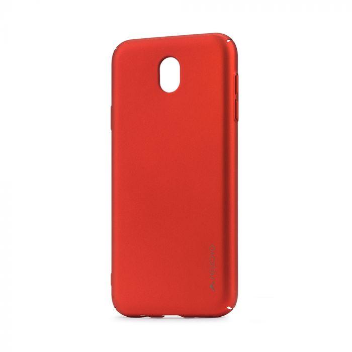 Carcasa Samsung Galaxy J7 (2017) Meleovo Metallic Slim 360 Red (culoare metalizata fina)