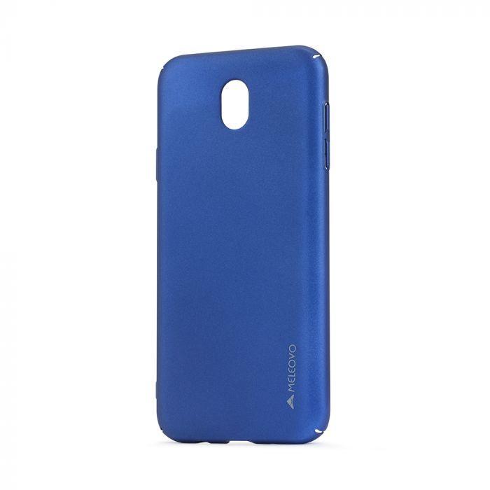 Carcasa Samsung Galaxy J7 (2017) Meleovo Metallic Slim 360 Blue (culoare metalizata fina)