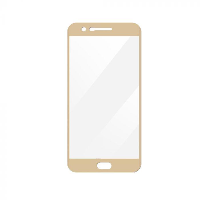 Folie LG K10 (2017) / LG LV5 Magic Sticla 3D Full Cover Gold (0.33mm, 9H)