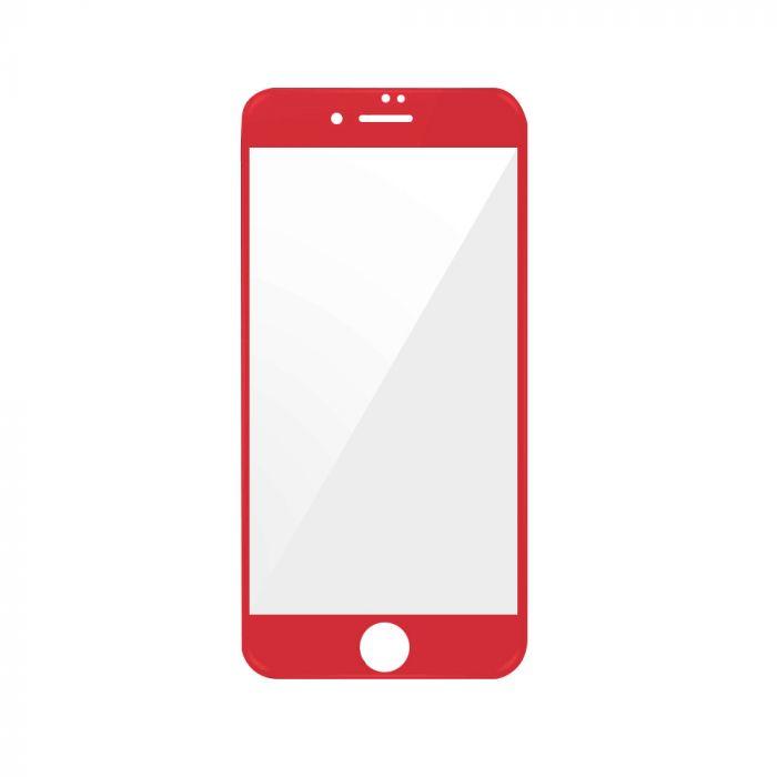 Folie iPhone 7 Magic Sticla 3D Full Cover Red (0.33mm, 9H)