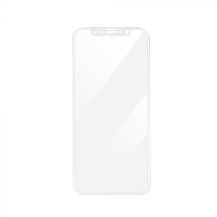 Folie iPhone X Magic Sticla 3D Full Cover White (0.33mm, 9H)