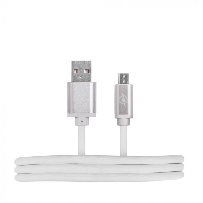 Cablu MicroUSB HQcable USB 2.0 White (1m, nickel connectors)