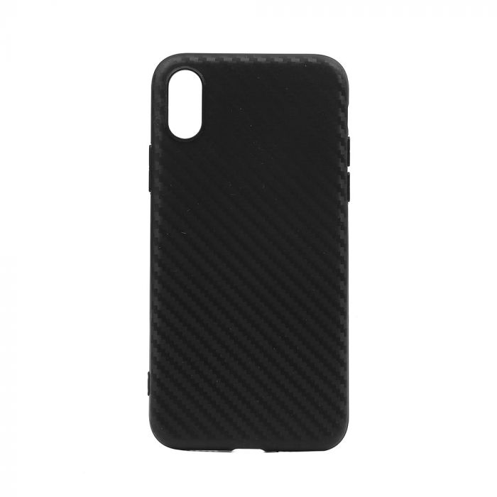 Husa iPhone X / XS Just Must Silicon Carbon Soft Black (ultraslim 0.5 mm)