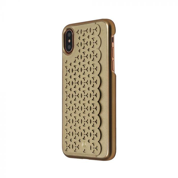 Carcasa iPhone X Occa Kate Gold (cu slot vertical pentru card)