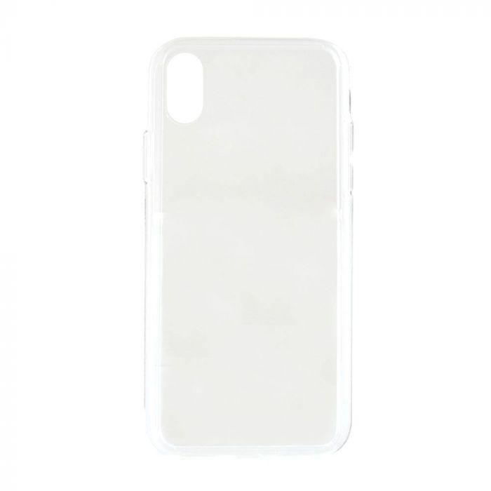 Carcasa iPhone X / XS Meleovo Glass Clear (spate din sticla antishock, margine flexibila)