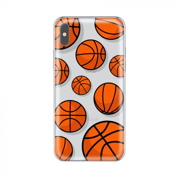 Husa iPhone X Lemontti Silicon Art Basketball