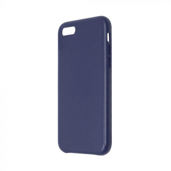 Carcasa iPhone 8 / 7 Just Must Origin Leather Midnight Blue (piele naturala)