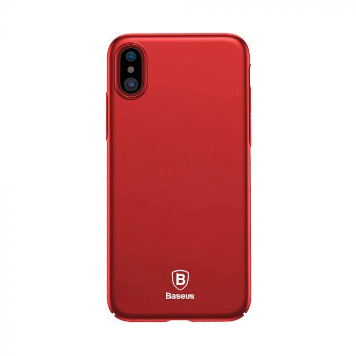 Carcasa iPhone X Baseus Thin Red (anti-amprente)