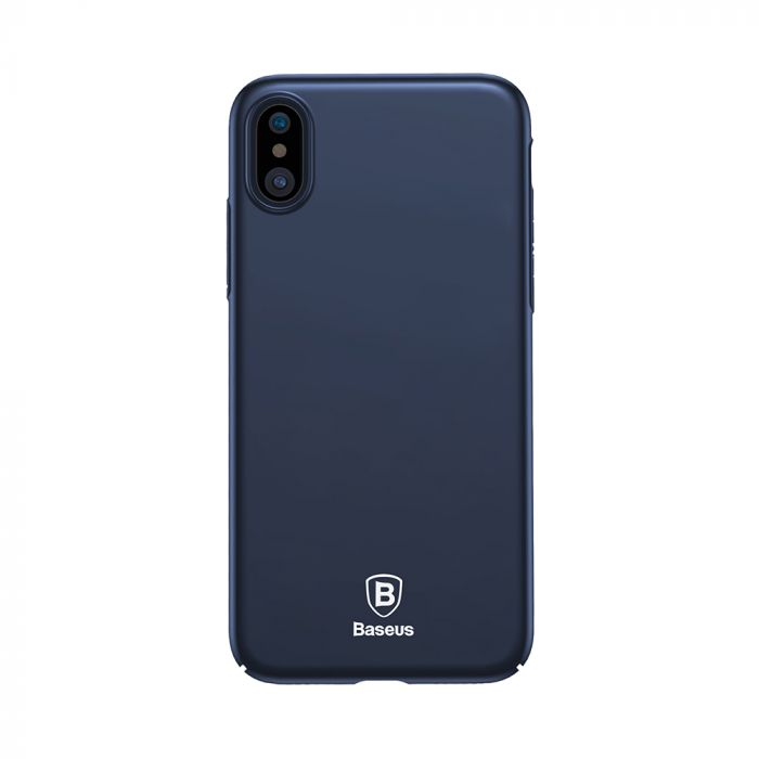 Carcasa iPhone X Baseus Thin Dark Blue (anti-amprente)