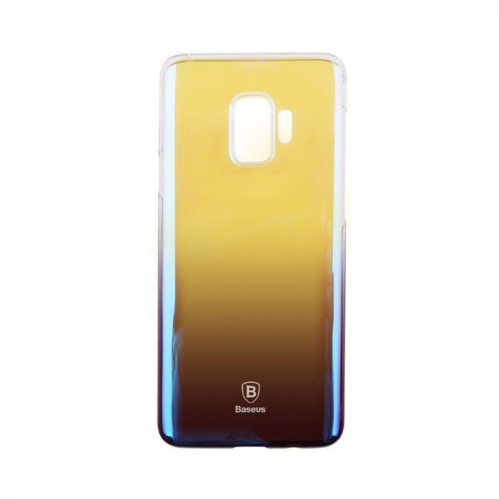 Carcasa Samsung Galaxy S9 G960 Baseus Glaze Transparent Dark Blue