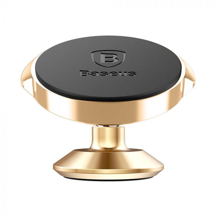 Suport Baseus Auto Small Ears Magnetic Gold (rotatie 360�, cu adeziv)