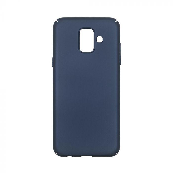 Carcasa Samsung Galaxy A6 (2018) Just Must Uvo Navy (material fin la atingere, slim fit)