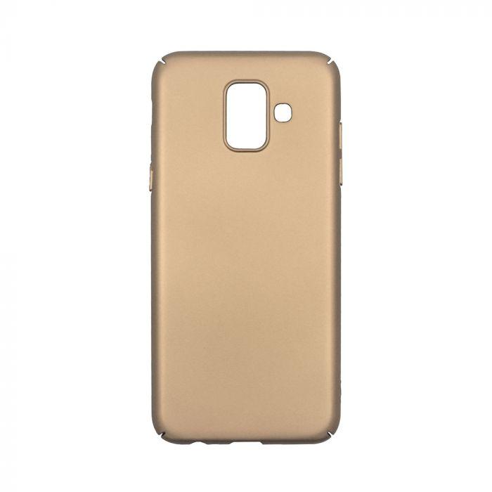 Carcasa Samsung Galaxy A6 (2018) Just Must Uvo Gold (material fin la atingere, slim fit)