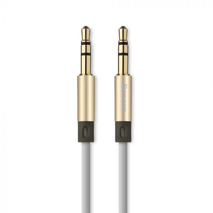 Cablu Jack 3.5mm la Jack 3.5mm Baseus Audio Fluency AUX Luxury Gold 1.2m