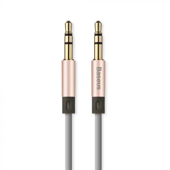 Cablu Jack 3.5mm la Jack 3.5mm Baseus Audio Fluency AUX Rose Gold 1.2m