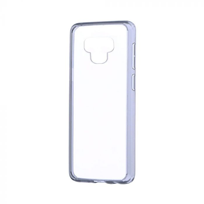 Carcasa Samsung Galaxy Note 9 Just Must Pure II Black (spate transparent, margini flexibile)