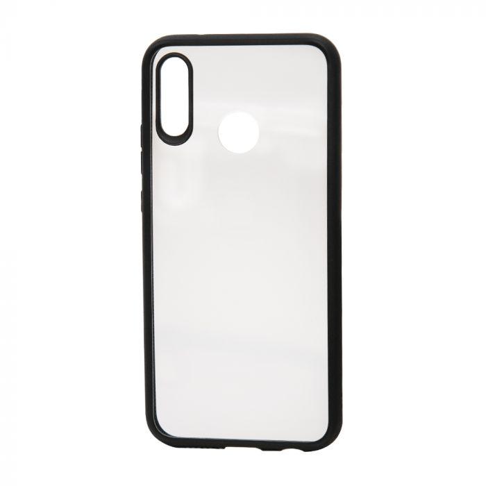Carcasa Huawei P20 Lite Devia Pure Style Black (antishock, spate dur si margini mate si flexibile)