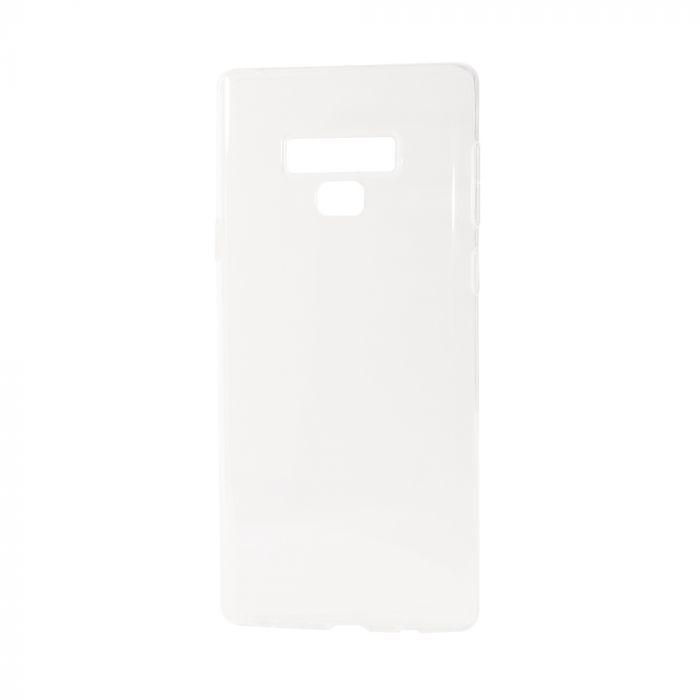 Husa Samsung Galaxy Note 9 Just Must Silicon Skate II Clear (ultraslim, cu margini impotriva aluneca
