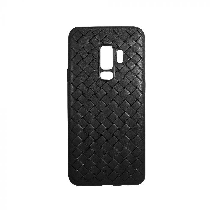 Carcasa Samsung Galaxy S9 G960 Devia Woven Soft Black (flexibil cu design piele impletita cu gaurele