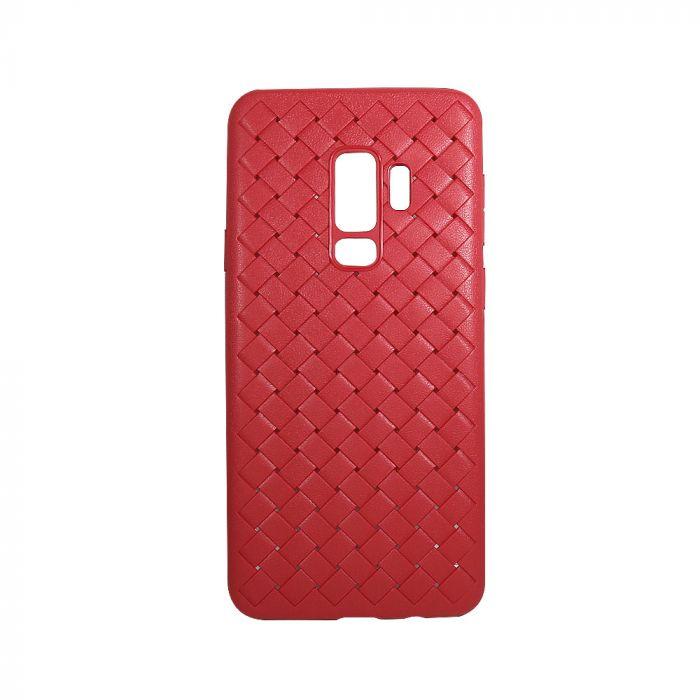 Carcasa Samsung Galaxy S9 Plus G965 Devia Woven Soft Red (flexibil cu design piele impletita cu gaur