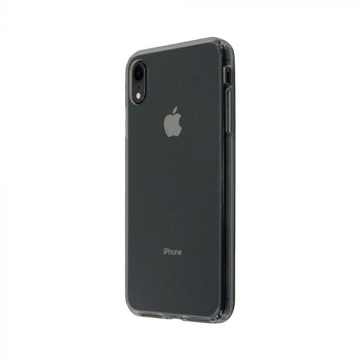Carcasa iPhone XR Just Must Pure II Black (spate transparent, margini flexibile)